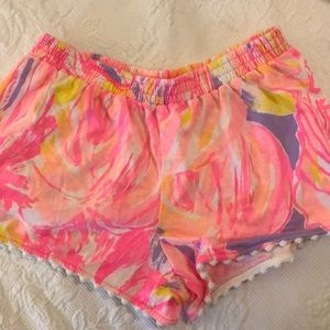 Lilly Pulitzer girls elastic waist shorts